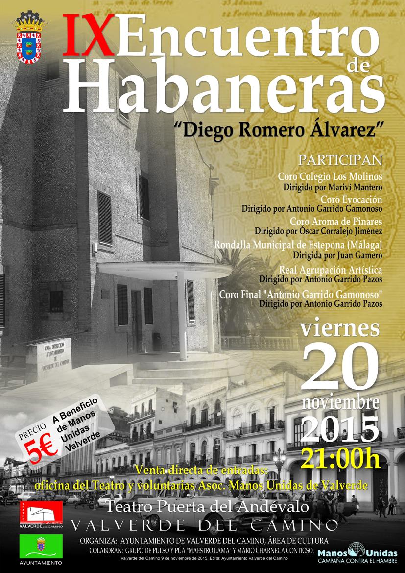 Cartel A4 Habaneras adultos 2015