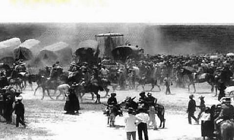 La fotografía más antigua que se conserva de la Romería del Rocío. 1848.